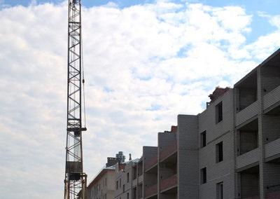 г. Микунь, строящийся многоквартрный дом на ул.Гоголя